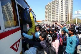 मजदूरों की समस्याओं पर राजनीति।कोंग्रेस ने जो बस की लिस्ट भेजी उसमें निकले ऑटो, बाईक, प्राइवेट कार।