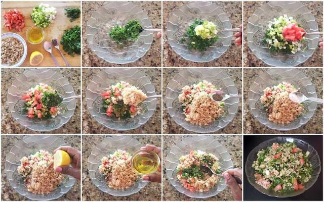 images of Tabouli Salad Recipe / Tabbouleh Recipe /  Simple Mediterranean Salad / Lebanese Tabbouleh Salad - Easy Salad Recipes