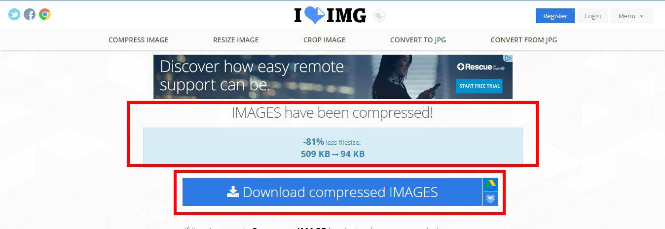cara kompres gambar foto online