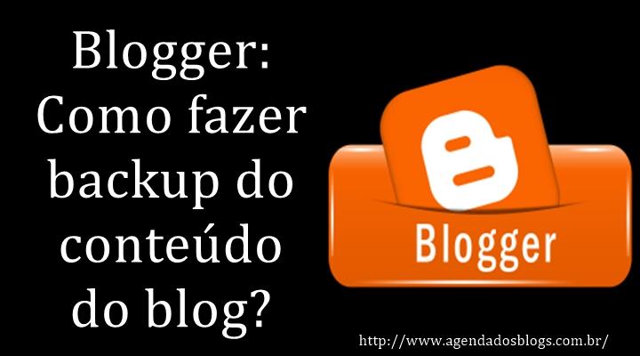 Backup do conteúdo de um blog