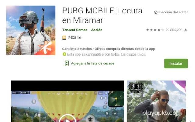Descargar PUBG MOBILE apk en Android