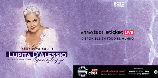 """Lupita D'Alesio presentará su primer show en streaming """"Aquí Estoy Yo"""""""