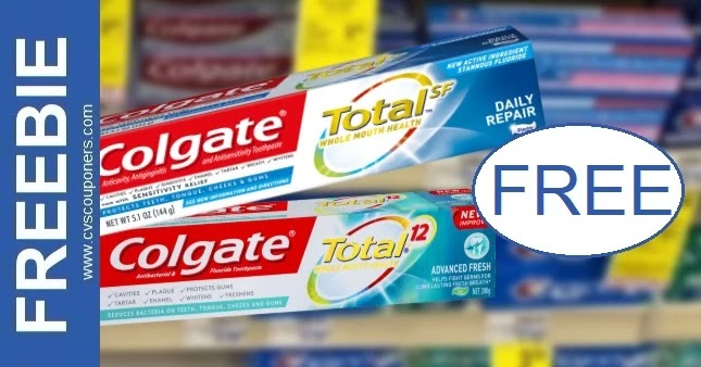 FREE Colgate Total Toothpaste at CVS 6-20-6-26