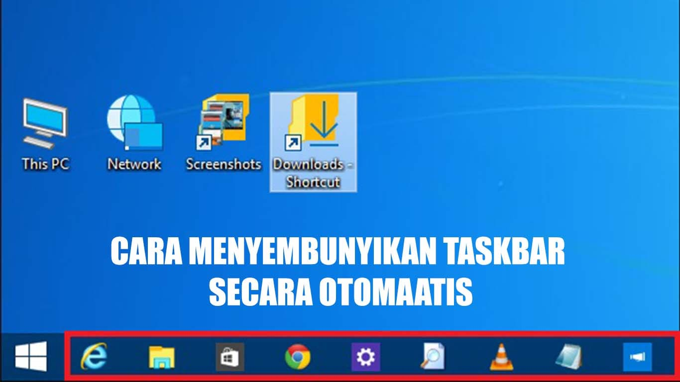 Sembunyikan Icon Taskbar Windows