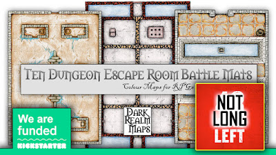 10 Dungeon Escape Room Battle Mats