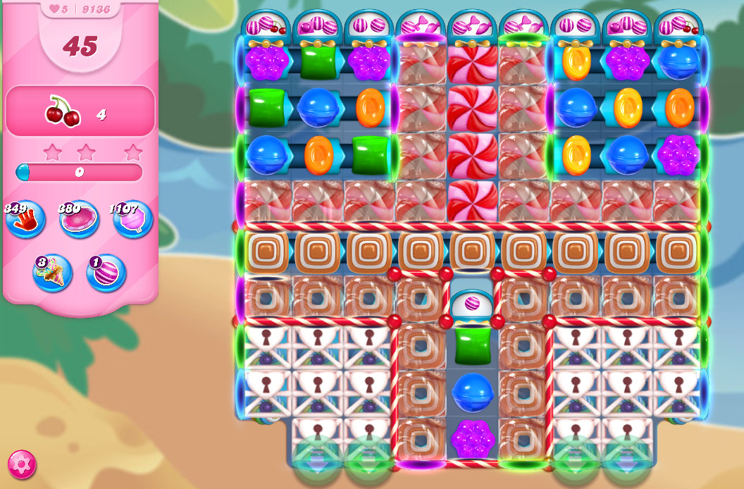 Candy Crush Saga level 9136