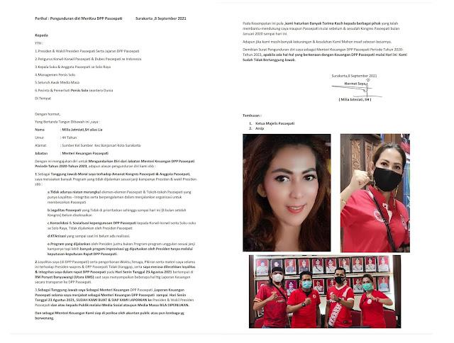 Surat pengunduran diri Lia
