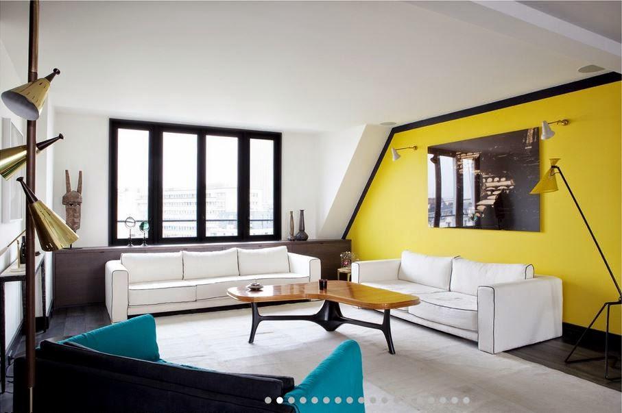 Mur Jaune Moutarde adc l'atelier d'à côté : aménagement intérieur, design d'espace et