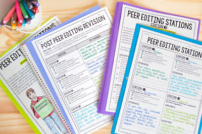 Peer editing stations for the secondary ELA classroom