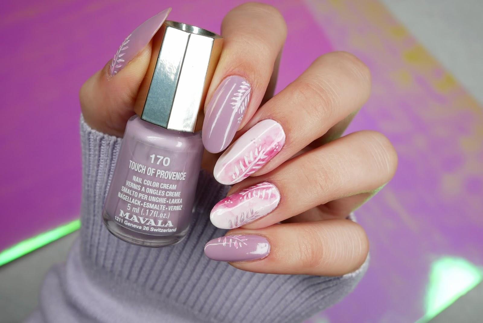 paznokcie - blur effect różowy