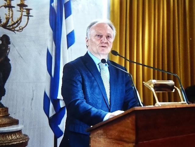 """Χαιρετισμός του Γ. Ανδριανού ως εκπρόσωπος του Προέδρου της Ν.Δ. στην τελετή έναρξης της φετινής προσομοίωσης """"Μοντέλο Βουλής των Ελλήνων"""""""