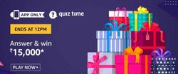 Amazon Quiz 9 December 2019 Answer Win - Rs.15000 Amazon Pay Balance