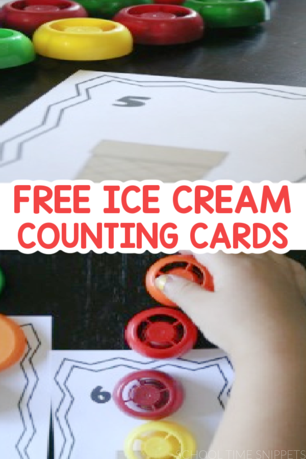 ICE CREAM COUNTING PRINTABLES