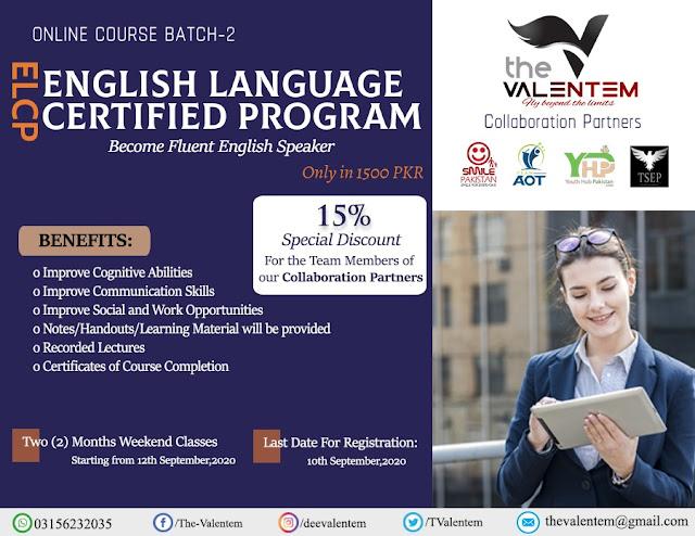 English Language Certified Program (ELCP) 2020 - The Valentem-YHP-TSEP