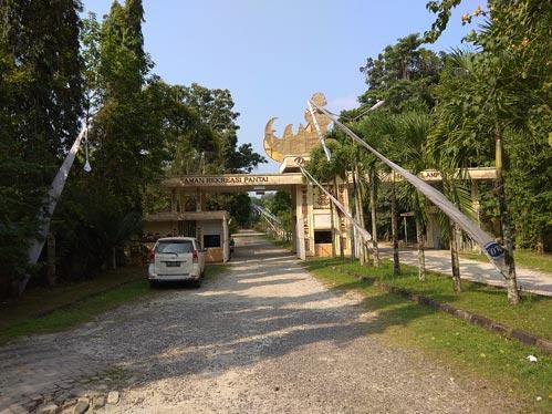 Lokasi Pantai Duta Wisata Lampung
