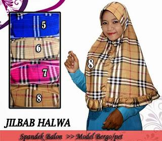 Jilbab model syiria dan bergo burberry kombinasi rempel