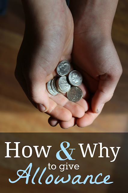 How and Why I Give My Kids Allowance {Part 1} Tips and tricks to teaching wise money management.