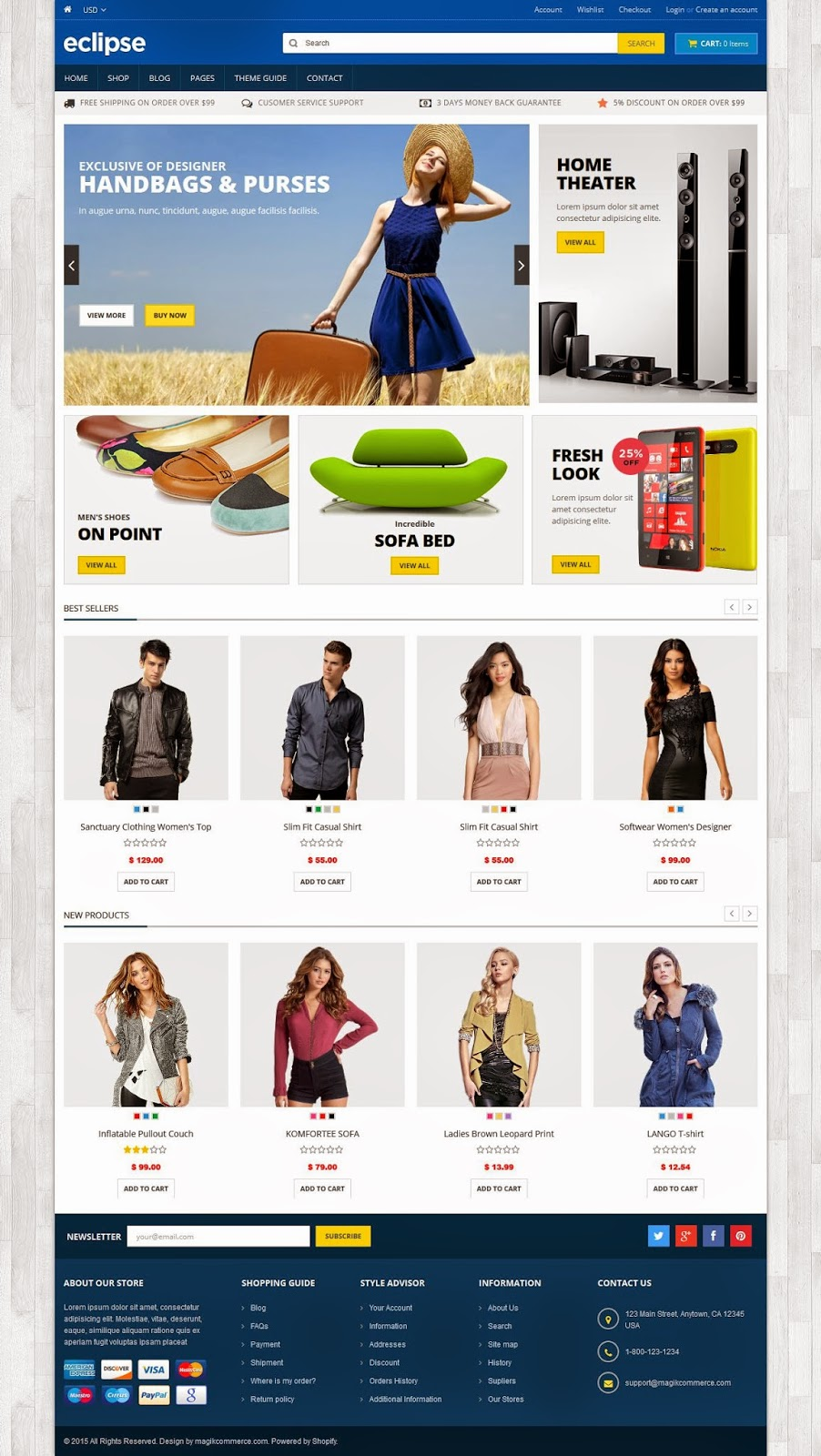 Premium Responsive Shopify Theme 2015