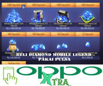 Beli Diamond Mobile Legend Pakai Pulsa