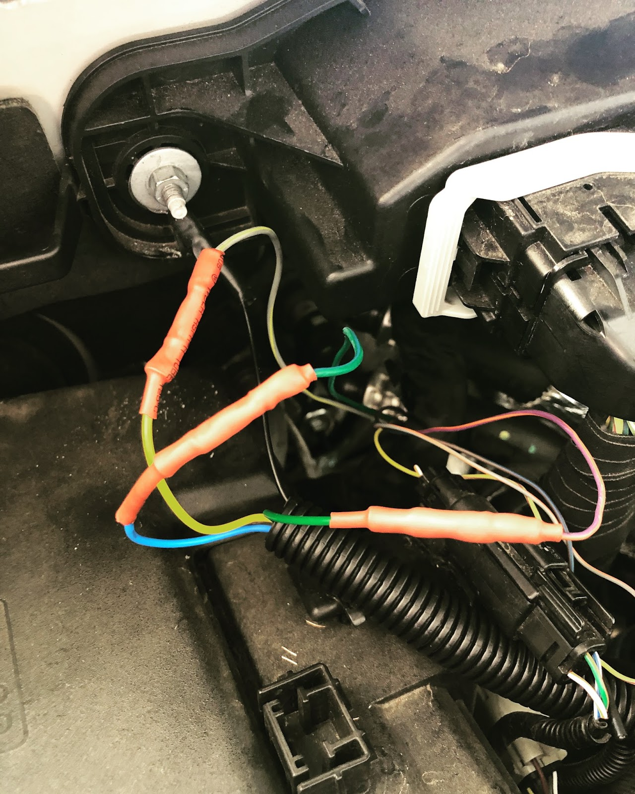 2017 Ford Raptor Installation Of The Lights Kit You Upfitter Wiring Under Hood Here Are Aux1 3 Wires Connected To Wire Loom I Used Some Heatshrink Butt Connectors And Added More Tubing Over Those Ensure