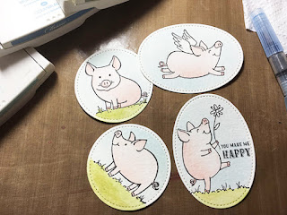 Watercoloured piggies