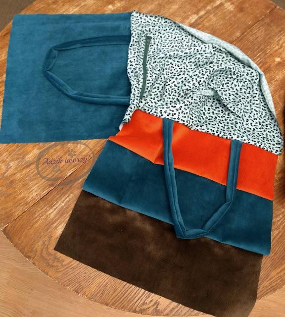 szycie torebka handmade w barwach Ziemi - Adzik tworzy