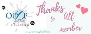 Terima kasih odop blogger squad