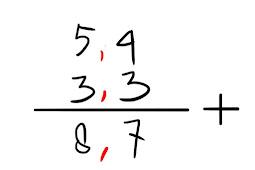 Cara penjumlahan, pengurangan, perkalian, dan pembagian pada bilangan desimal
