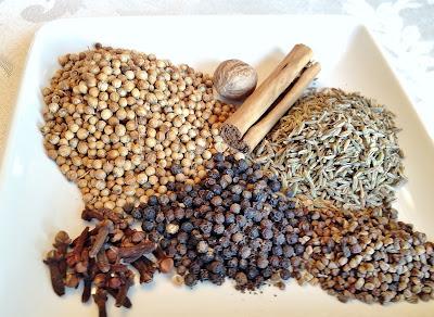 Garam Masala Ingredients with Nutmeg