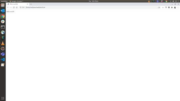 Hello World HTML world example