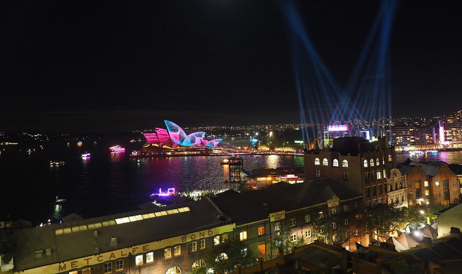 Sydney Harbour during Vivid