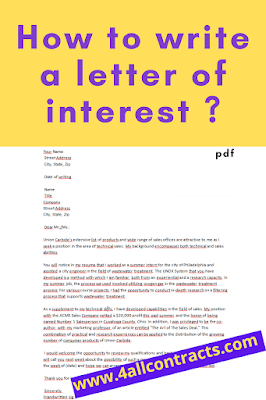 letter of interest template