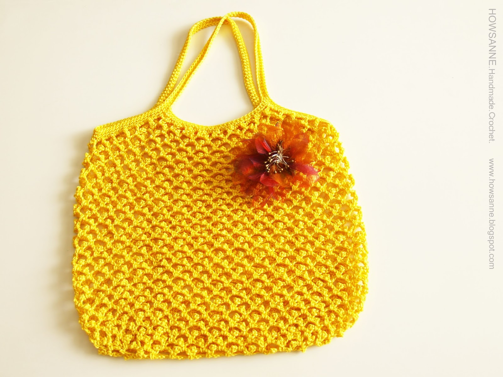 Howsanne handmade crochet 100% cotton bag