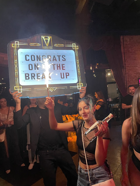 Lady goes to the club to celebrate her break up with her Boyfriend