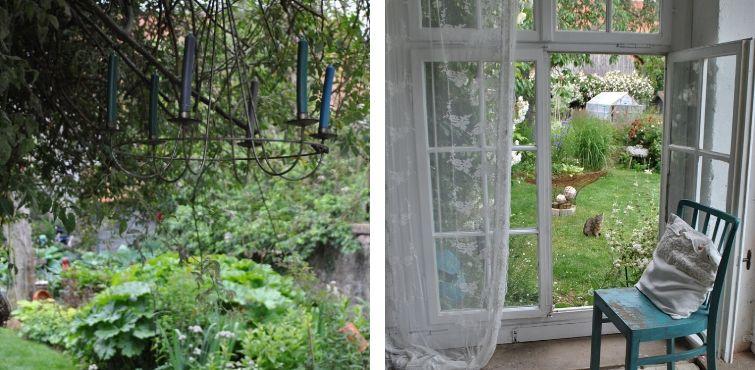 Verspielte Dekoration Garten