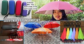 Payung topi Promosi, Payung Golf, Payung Standart, Payung Lipat, Payung terbalik