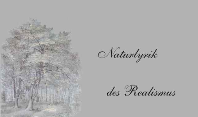 Gedichte Und Zitate Fur Alle Naturlyrik Realismus Fontane Ein