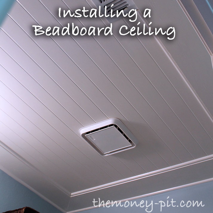 Beadboard Ceiling Bathroom: One Of My Biggest Inspirations For My Powder Room Makeover