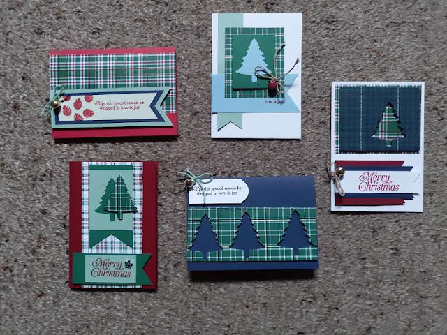 Wrapped in Plaid card Stampin' Up cards