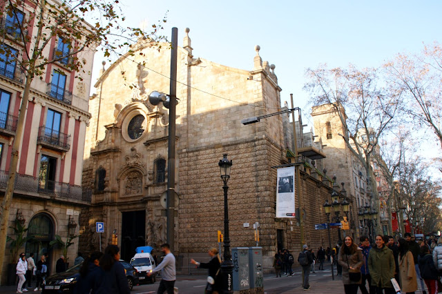 Esglesia de Betlem lungo la Rambla