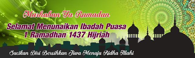 Download Desain Spanduk/Banner Ramadhan 1437 H
