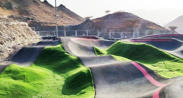 An adventure skating park in Fujairah