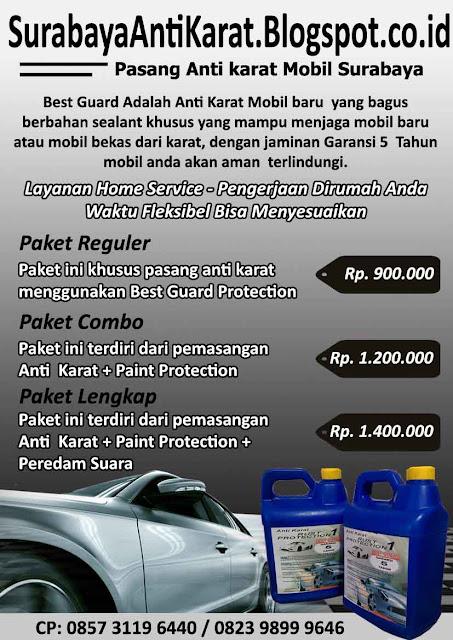 Harga Anti Karat Mobil dan Paint Protection Mobil