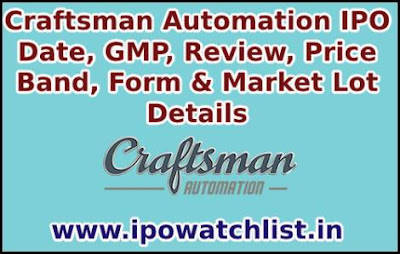Craftsman Automation IPO Details