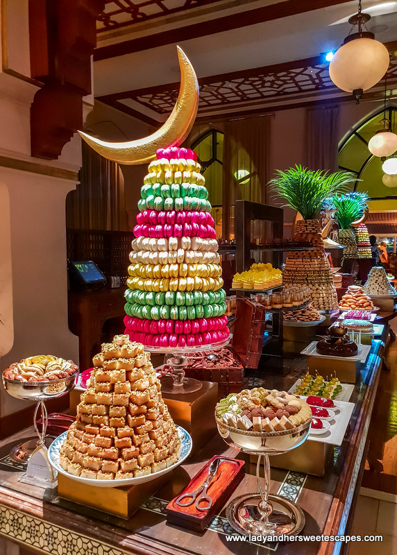 dessert table at the Palace Downtown Dubai iftar