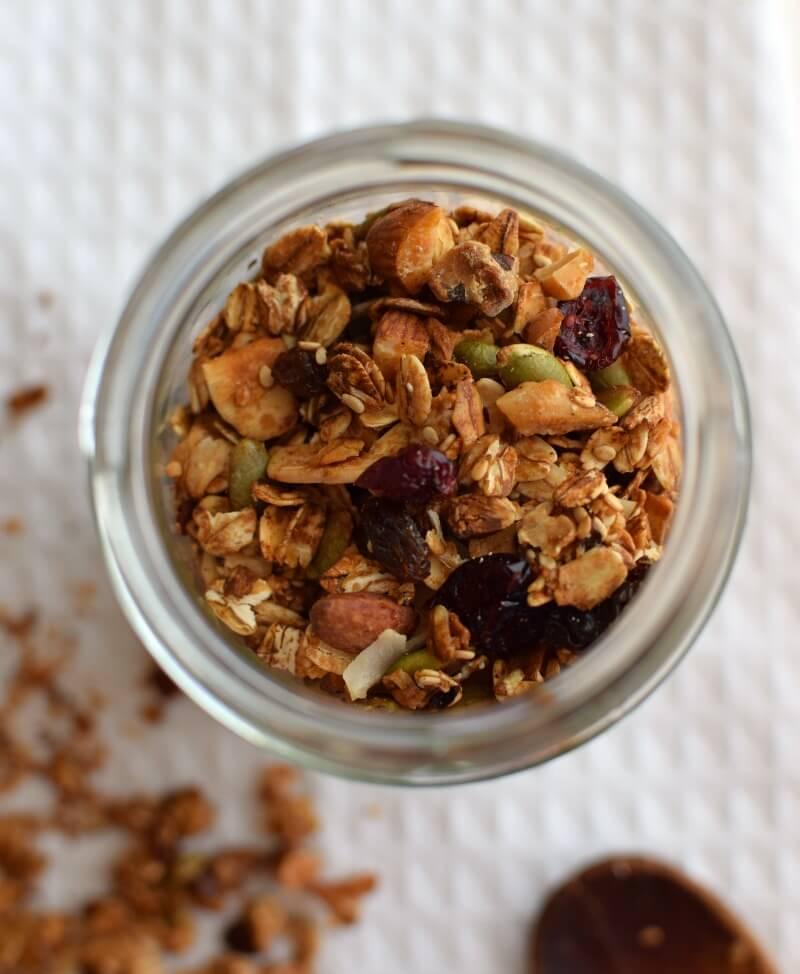 Granola casera, fácil, económica y muy nutritiva; aporta fibra y energía para comenzar un día activo