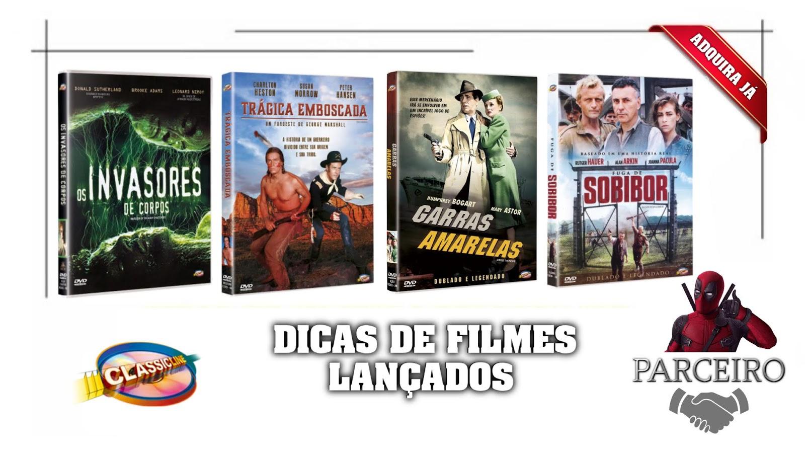 DICAS DE FILMES LANÇADOS PELA CLASSICLINE