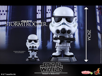 Star Wars: The Original Trilogy Cosbaby Vinyl Figures by Hot Toys - Stormtrooper Large Cosbaby Bobble Head Vinyl Figure