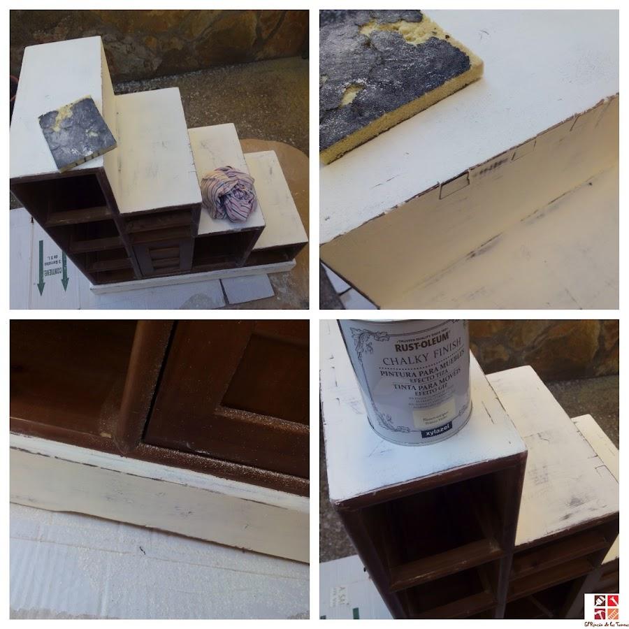 mueble pintado con pintura a la tiza