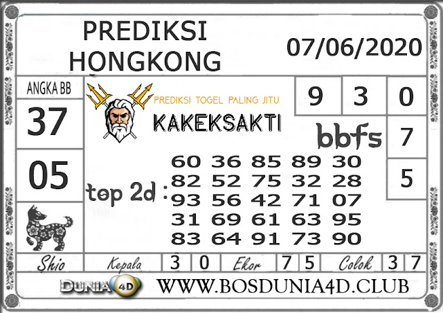 Prediksi Togel HONGKONG DUNIA4D 07 SEPTEMBER 2020